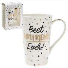 New Leonardo Collection Best Girlfriend Ever! Gold Polka Dots Gift Box Latte Mug