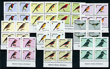Mint Never Hinged/MNH Birds Zimbabwean Stamps (1965-Now)