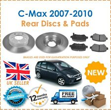 For Ford C-Max 2007-2010 Two Rear Solid 280MM Brake Discs & Brake Pads Set New