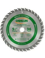 "Oshlun SBW-055036 5-1/2"" x 36 Tooth Saw Blade w/5/8"" Arbor w/1/2"" & 10mm Bushing"