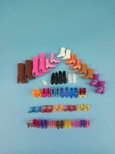 Mattel Barbie Ken Clone Doll Shoes Lot Of 29 Pairs + 2pc Heels Flat Boots Skates