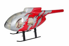 MD-500E Voll GFK-Rumpf für 450 Heli, Jive RED, T-Rex CopterX KDS fuselage Hughes