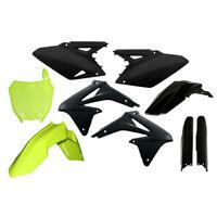 Acerbis Full Complete Plastic Kit Flo Yellow/Black For Suzuki RMZ 250 10-17