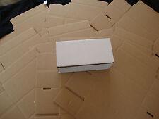 10 White Corrugated Shipping Box 8x4x3 Sunglasses Cardboard Carton Packing Maile