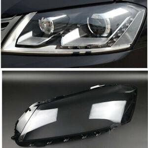 Left Headlamp Clear Lens Auto Shell Cover For Volkswagen Passat B7L 2012-2015
