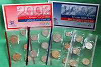 2002 Annual BU P and D US Mint Uncirculated 20 Coin Set Philadelphia Denver