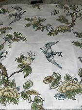 Threshold Target Cotton Fabric Shower Curtain Blue Birds Branches Moth Botanical