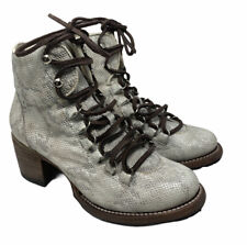 Freebird by Steven Devin Snake Ankle Lace Up Boots Size 7 Sold Out $298 Great!