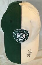 New Orleans Zephyrs Green White Signed Baseball Cap Hat Strapback Ain't dere no