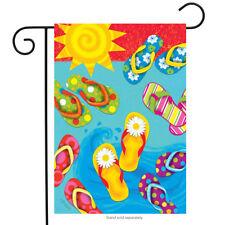 "Fun in the Sun Flip Flops Summer Garden Flag Nautical 12.5"" x 18"" Briarwood Lane"