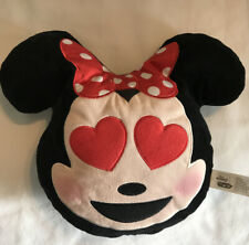 Disney Emoji Plush Minnie Minnie Mouse Pillow Travel Plush Heart Eyes