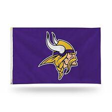 """Minnesota Vikings NFL Banner Flag 3' x 5' (36"""" x 60"""") ~ NEW"""