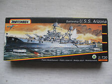 Matchbox Lesney Battleship U.S.S. Arizona 1:720 Schiff Modell Militär Navy WW2
