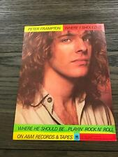 "1979 Vintage 8X11 Album Promo Print Ad For Peter Frampton ""Where I Should Be"""