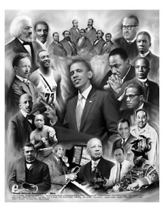 Great African American Men by Wishum Gregory (20X24 inches - Black History Art)