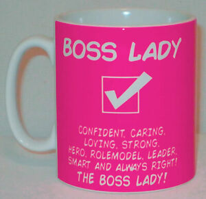 Boss Lady Mug Can Be PERSONALISED Great Office Shop Work Manager Woman Girl Gift