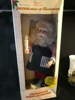 Vintage Motion-ettes of Christmas Singing & Moving Santa Display Figure Doll