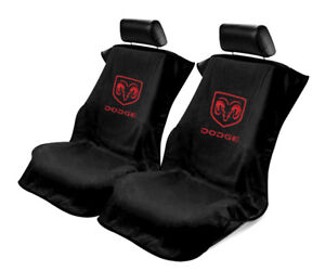 Seat Armour Universal Black Towel Front Seat Covers for Dodge -Pair