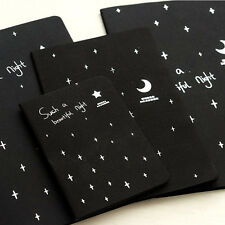 Easy to Carry Black Paper Notepad Notebook Vintage Sketch Office School Supplies