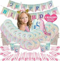 Unicorn Party Supplies, Unicorn Birthday Party, Unicorn Themed Party SERVES 12!