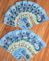 💫Rare Australia 2017 $10 Notes FIRST AA & LAST EA PREFIX Ten dollar Paper Note