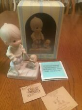 "Enesco Precious Moments""Blessed are they that Overcome"" 1987 115479"
