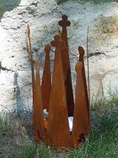 Edelrost Krone Pflanzschale Dekoration Garten Terrasse Tischdeko Windlicht