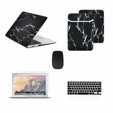 "5 IN 1 Macbook Air 13"" Marble Black Hard Case + Keyboard Skin+ LCD + Bag +"
