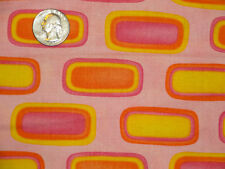 Spring Fever Me My Sister Pink Orange Yellow Graphic Art Cotton Quilting Fabric