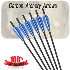 6pcs Archery Carbon Arrows Crossbow Bolts Changeable Screw Target Hunting New
