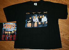 Styx Concert Tour T-Shirt black tee Men's Xl X-Large/tommy shaw/rock group/music