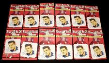 VHTF 12 ORIGINAL 1950's FRANKIE AVALON MISP NOS SEALED IRON ON PICTURE PATCHES