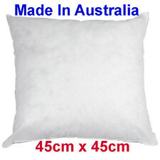 Made in Australia CUSHION PILLOW INSERT polyester 45cm x 45cm New