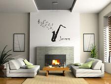 Jazz Music Saxophone Wall Art Decor Vinyl Decal Sticker Removable