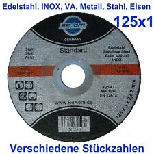 Trennscheiben 125x1 Edelstahl INOX Stahl Metall Trennscheibe 125 x 1 mm *NEU*
