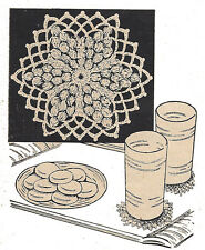 Vintage Crochet PATTERN for Snowflake Glass Drink Coasters Small Doily Popcorn