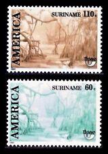 SURINAME 1990 TEMA UPAEP  1202/03 PAISAJE  2v.