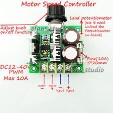 CCMHC PWM Motor Speed Controls DC 12V 24V 36V 40V DC Gear Motor Speed Controller