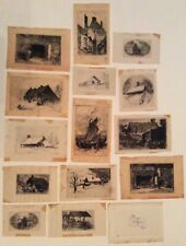 15 19th c. etchings by New York artist John M Falconer; African American subject