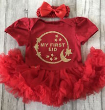 FIRST EID TUTU ROMPER, Gold My First Eid Moon and Stars, Newborn Gift Ramadan