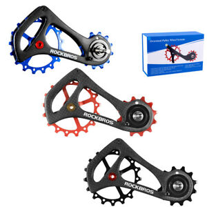 ROCKBROS Rear Derailleur Carbon Fiber Cage Pulley Kit 17T For Sram Di2 Style