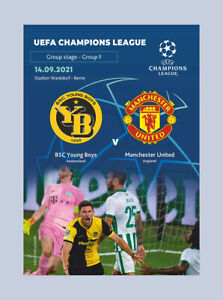 YOUNG BOYS Bern Switzerland MANCHESTER UNITED England 2021 CHL FAN + OFFICIAL LU