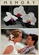 6x Orchid Flower Hair Pins Clips Small Orchid Headpiece Bridal hair comb Elegant