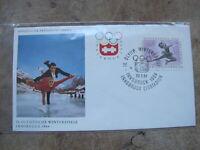 1964 Austria First Day Cover / FDC -IX Innsbruck Winter Olympics -Figure Skating