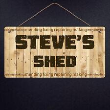 Personalised nfixup Sign-Metal Plaque Garden nfixup Wood Fix Outil À faire soi-même papa Poison