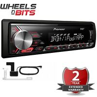 Pioneer MVH-280DAB & Aerial Mechless DAB USB AUX Car Stereo Radio Android Player
