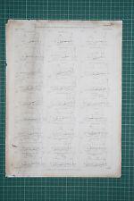 1860 LARGE LOCOMOTIVE PRINT ~ AMERICAN ENGINES AS CARRIAGES BALDWIN NORRIS