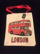 PRIMARK London Tote Bag Red Routemaster Bus England UK Atmosphere