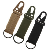 Molle Key Hook Webbing Molle Buckle Hanging Belt Carabiner Clip with Loop