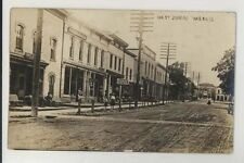 1916 Oak Street Juneau Wisconsin real photo Rppc